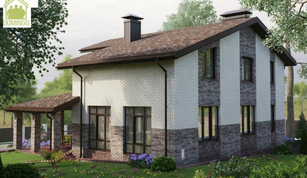 Проект дома с балконом