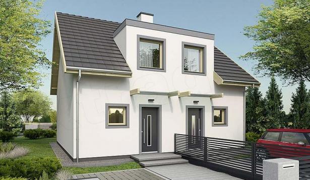 Проект дома с 2 комнатами