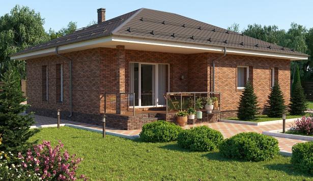 Проект дома с 2 спальнями