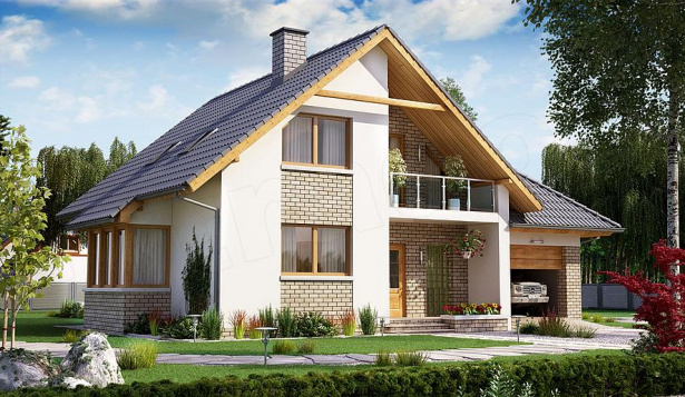 Проект дома с 5 комнатами