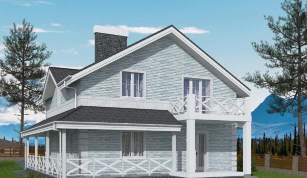 Проект дома с 4 комнатами