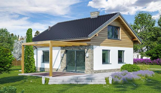 Проект дома с2 комнатами