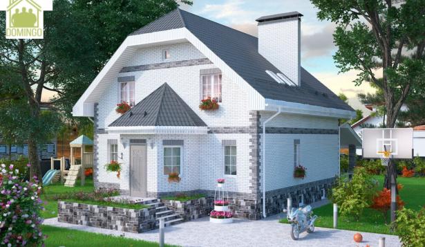 дом с цоколем