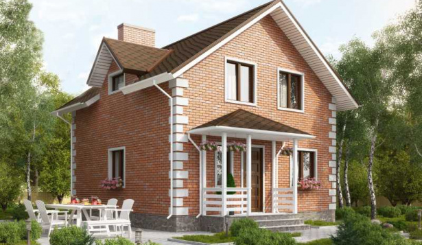 Проект дома с 4 спальнями